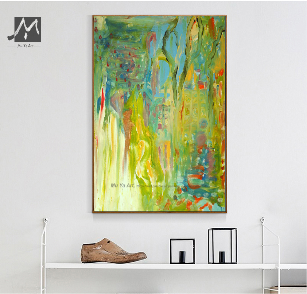 Large Vertical modern painting decorative pictures abstract art ...