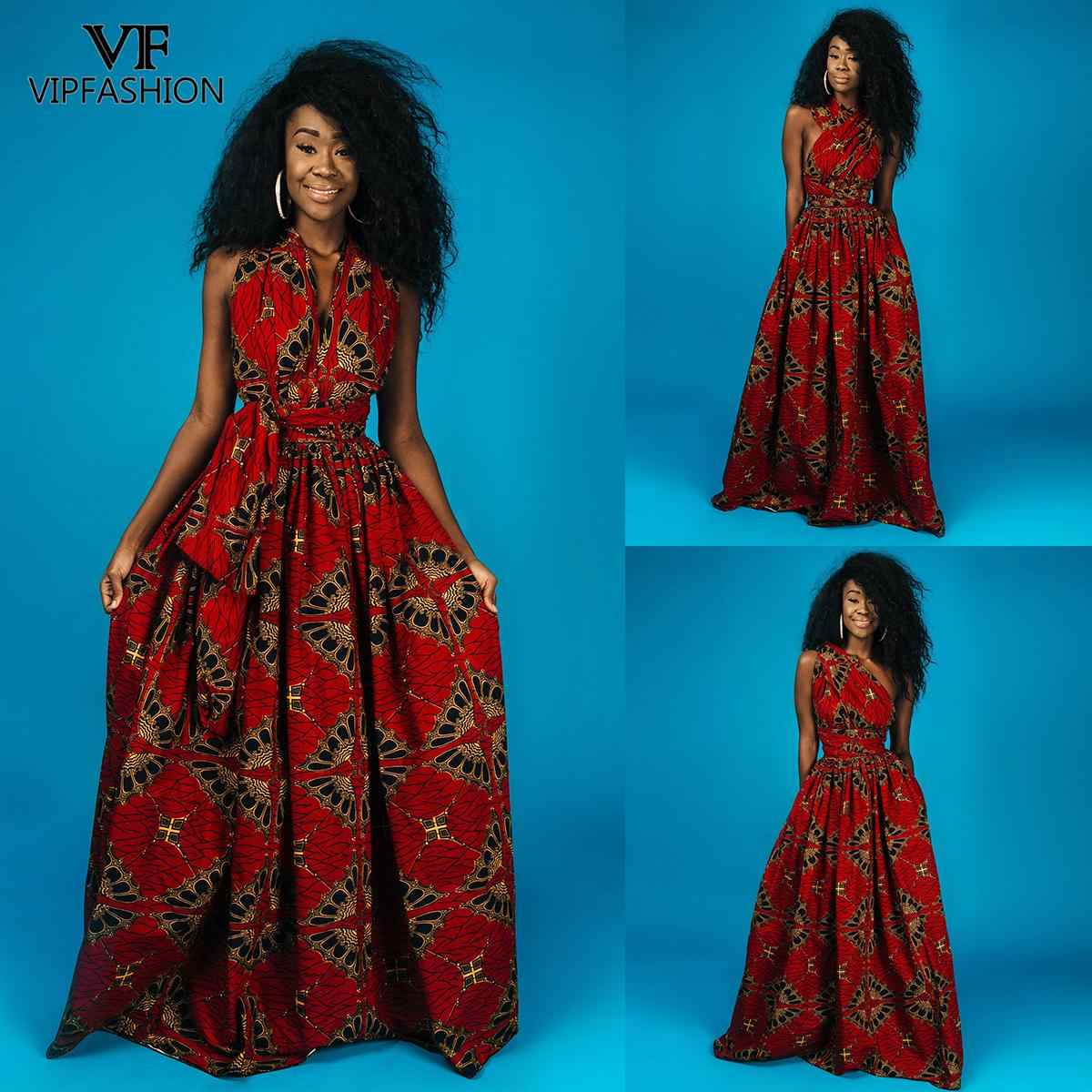 VIP mode mode été Tribal Nation Style Sexy longue Robe florale africaine impression Robe pour les femmes grande taille indien longue Robe
