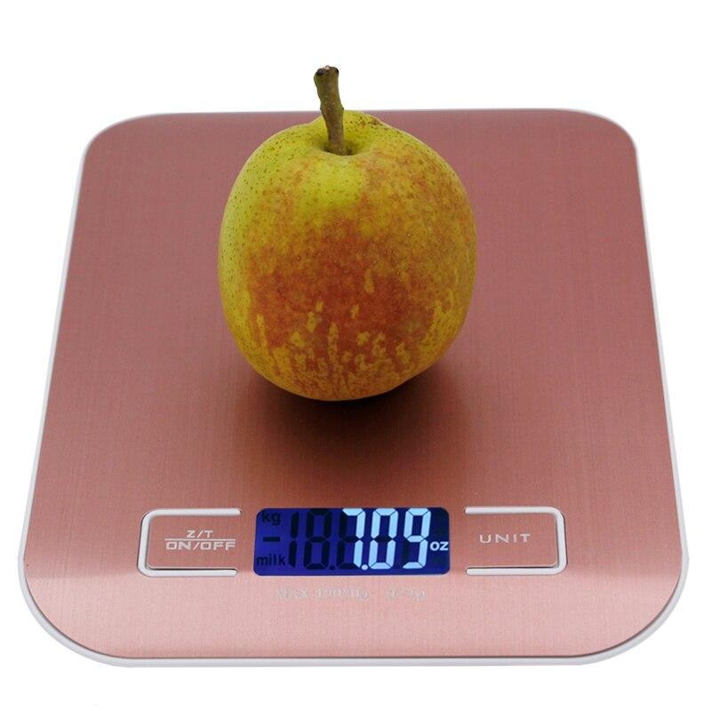 10 kg 1g Digital cocina Escala de acero inoxidable grande dieta cocina 10000g x 1g peso balanza electrónica escalas 40% off
