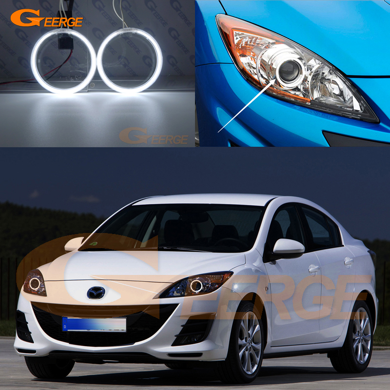 For Mazda 3 mazda3 BL 2009 2010 2011 2012 2013 Sedan hatchback headlight Excellent Ultra bright illumination CCFL Angel Eyes kit for mazda 3 mazda3 bl sp25 mps 2009 2010 2011 2012 2013 excellent ultra bright illumination ccfl angel eyes kit