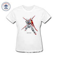 2017 New Summer Funny Tee Gundam Game Super Robot Wars Cotton Funny T Shirt Women