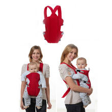 Baby Sling Trendy Breathable Nylon and Plastic Buckle 3D Mesh Baby Wrap Carrier Baby Sling for Infant Baby Blue/Red