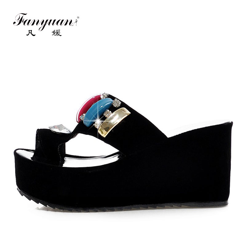 7ebc96a4d Fanyuan Plus Size 32-43 Best Price Flock Ladies shoes Mixed Colors Crystal  Platform footwear