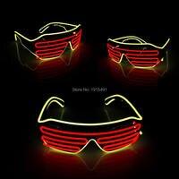2017 Nuevo tipo doble color de luz fría obturador Gafas de sol traje de boda suministros alambre gafas para Iluminación para fiestas, baile