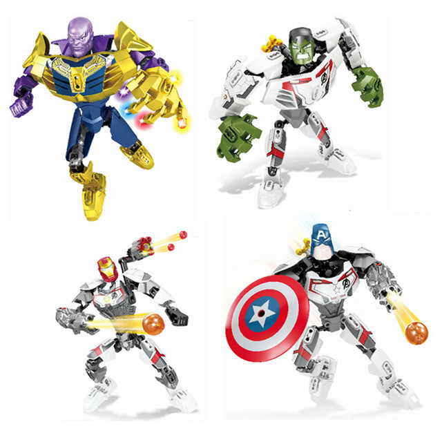2019 Marvel Avengers: Endgame Super Heroes Thanos iron Man Hulk Figures Building Blocks Bricks Toys Gift Compatible With Lego
