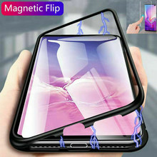 Magnetic Adsorption Metal Case For Samsung Galaxy A50 A40 A70 A60 A10 M10 M20 M30 A20 A30 J4 J6 A7 A9 2018 Phone Cover Coque(China)