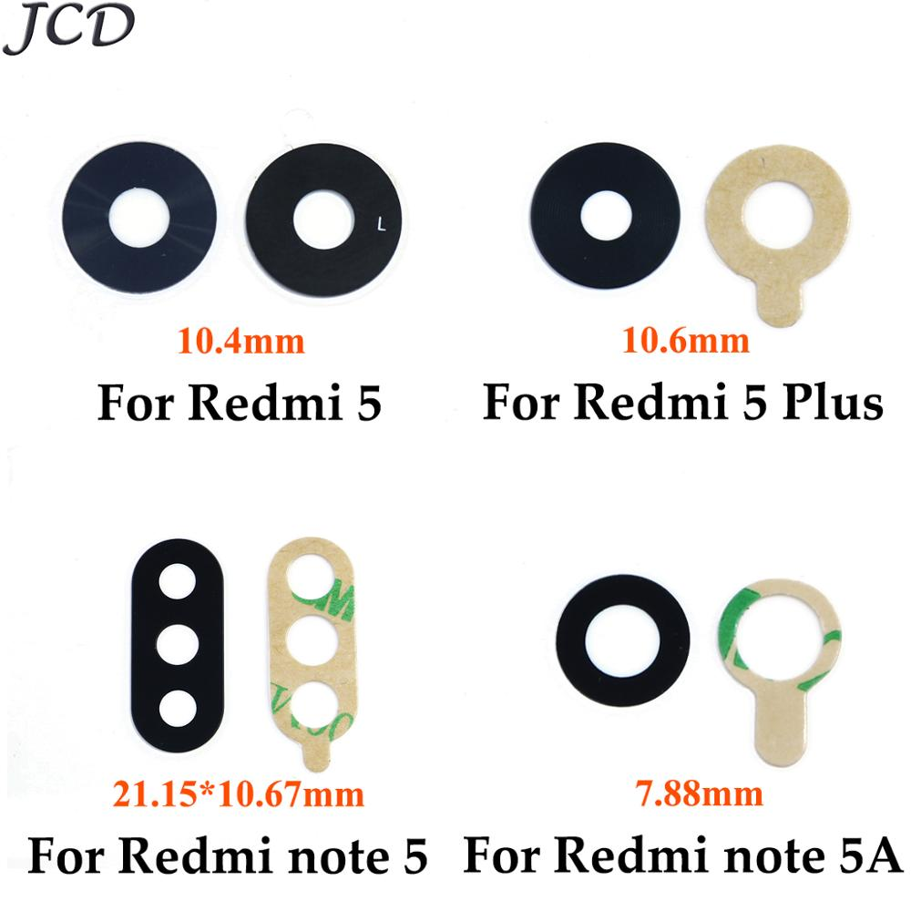 JCD 2pcs/lot Rear Back Camera Glass Lens For Xiaomi Redmi 5 Plus 5A Y1 Lite Prime For Redmi Note 5 5A With Sticker