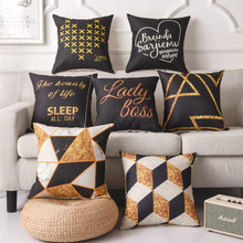 Printed Words Geometric Classic Cushion Cover Cotton Linen Decorative Throw Pillow Cover Seat Sofa Embrace Pillow Case Home dooley j evans v set sail 4 vocabulary grammar practice сборник лексических и грамматических упражнений