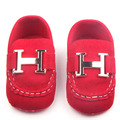 2016 New Baby Boy Girl Shoes Leather Metal Decoration Slip-On Soft Sole Infant Toddler Baby Boy Girl Shoes 0-15 Months