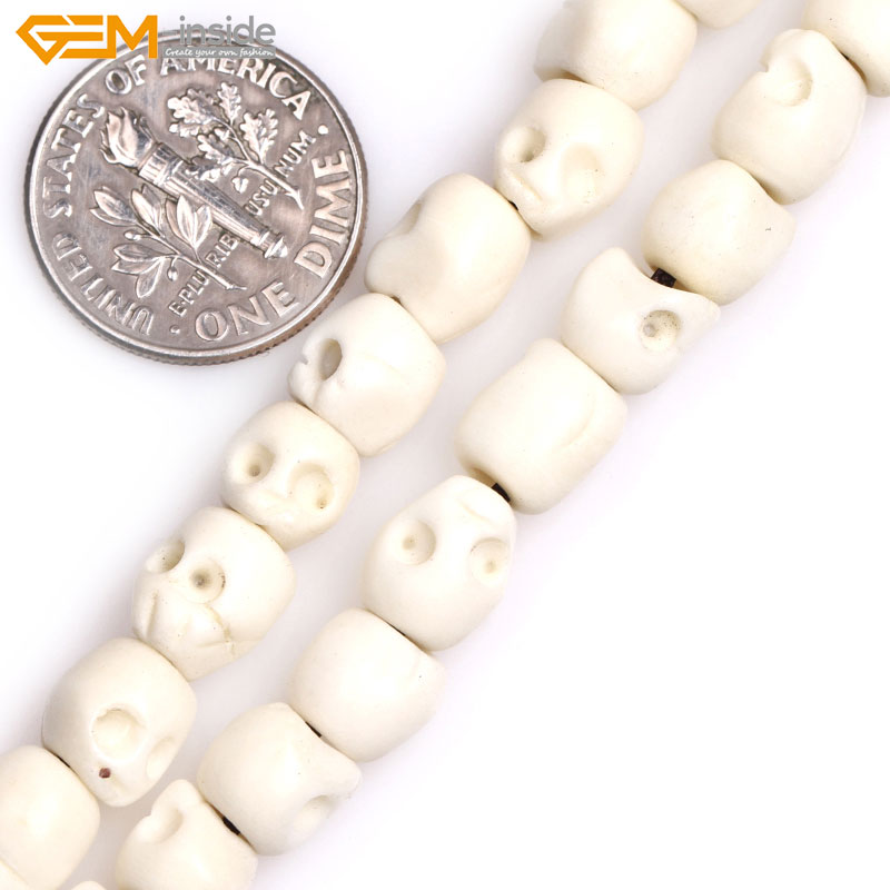 Gem Inside Big Hole 1 2mm White Yellow Carved Bone Skull Beads For Halloween Jewelry Making Strand 16inches Diy Jewellery Skull Beads Bone Skull Beadscarved Bone Skull Beads Aliexpress