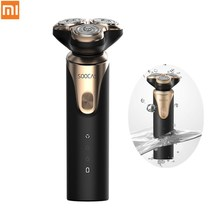 Original Xiaomi Mijia SOOCAS S3 Electric Shaver USB Rechargeable Waterproof Razor 3Cutter Head Dry Wet Shaving Wireless for Men