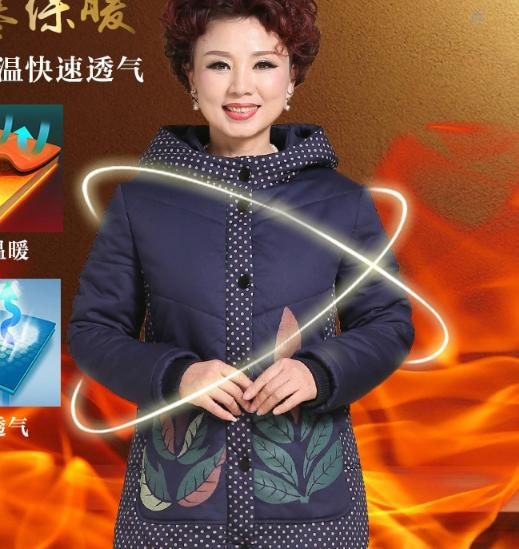 Free shipping !The 2017 winter down fat mm large size ladies cotton-padded clothes loose thickening cotton-padded jacket coat the fat free junk food cookbook