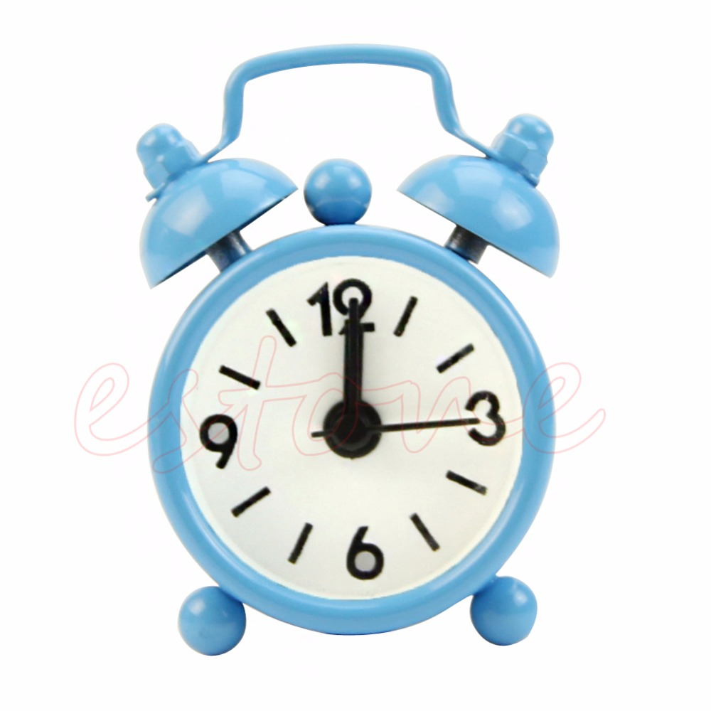 Fashion Lovely Cartoon Dial Number Round Desk Alarm Clock For Kid Home Decor