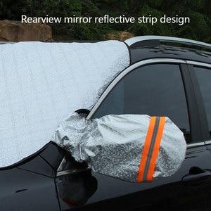 Image 2 - العالمي سيارة الثلوج غطاء المغناطيسي غطاء الزجاج الأمامي سمكا الشمس الظل غطاء للحماية الشمس مانع جميع الطقس الشتاء الصيف SUV