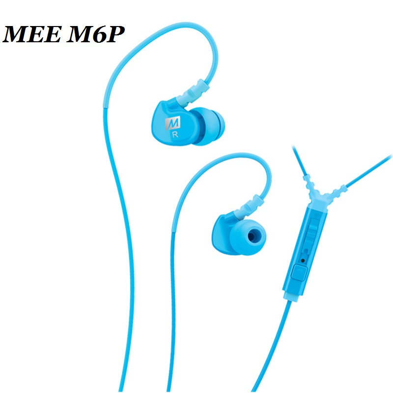 Big Sale MEE Audio M6P Memory Wire In-Ear Earphone with Mic Remote & Volume Control Sport 6 Colors for cellphone HiFi Headphone ipipoo ip dc2hi in ear earphones w replaceable wire mic next volume control silver black