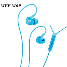Big Sale MEE Audio M6P Memory Wire In-Ear Earphone with Mic Remote & Volume Control Sport 6 Colors for cellphone HiFi Headphone