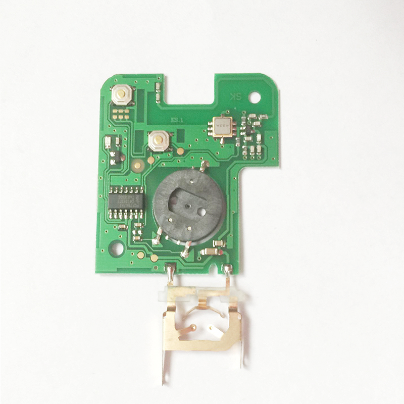 Free shipping  PCB key board with pcf7947 chip for 2 Button renault laguna card(1piece) free shipping 2 button remote flip key with pcf7947 chip 433mhz for renault clio 1piece