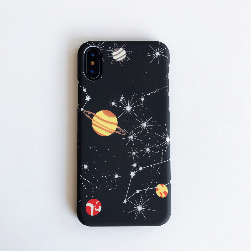 KIP7P1253H_2_JONSNOW Phone Case For iPhone 6 6S 7 8 Plus Earth Planet Starry Sky Patterns PC Hard Case for iPhone X XR XS Max Back Cover Capa Fundas