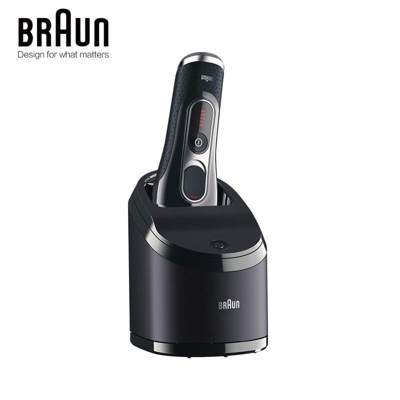 Бритва Braun электробритва бритва 5090cc для мужчин, бритвенные лезвия с возвратно-поступательным движением, перезаряжаемый моющийся очищающий центр 4