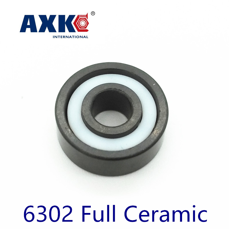 2019 <font><b>Rodamientos</b></font> Axk <font><b>6302</b></font> Full Ceramic Bearing ( 1 Pc ) 15*42*13 Mm Si3n4 Material 6302ce All Silicon Nitride Ball Bearings image