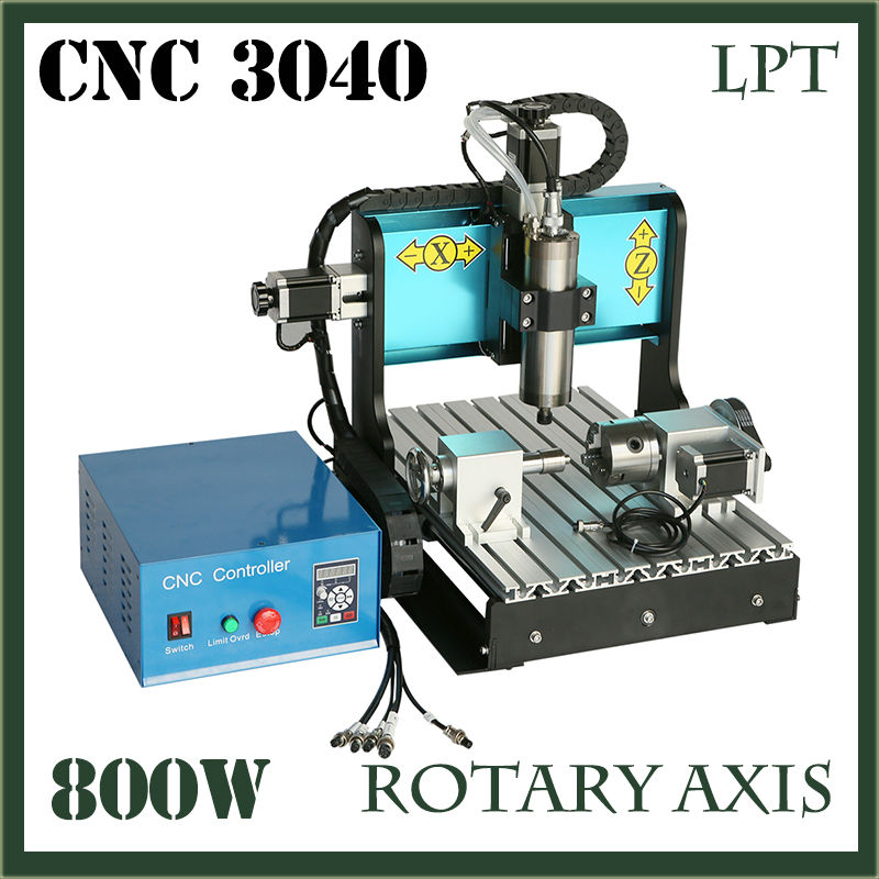 JFT CNC 3040 Router 800W 4 Axis Parallel Port New Type High Precision Easy Operate cnc3040 Cutting Router Engraving Machine  jft cnc router 3040 600w 4 axis with usb 2 0 port high precision mini jewelry cnc router wood engraving drilling milling machine