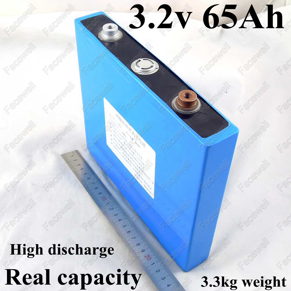 High capacity 3.2v lifepo4 battery cells 65Ah 200A for diy facewell lifepo4 50Ah pack 12v battery lifepo4 60ah electric vehicle