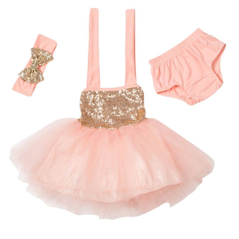 ヾ(^▽^)ノ2018 europea nueva moda lentejuelas Vestidos bebé ...