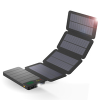 ALLPOWERS 10000mAh Solar Power Bank 6W Solar Charging External Battery Pack For IPhone IPad Samsung HTC