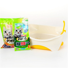 Enclose Closed Cat Bedpan Large Closed Toilet Box Tras Pet Dog Plastic Cat Box Toilet BedPan Sand Litter Basin House QQM2413