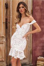 White lace Slash neck ruffle bodycon dress summer dresses casual wrap elegant backless ladies sexy party club floral midi dress недорого