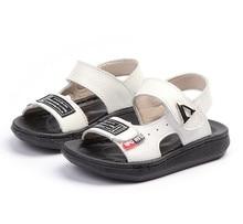 KINE PANDA Tikrasis odos mažylis Berniukas Sandalai Vasaros paplūdimys Slydimo vaikštynės Vaikų batai Vaikiški berniukai Sandalai 0-3Y Minkštieji guminiai apatiniai