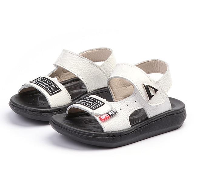 KINE PANDA Genuine Leather Toddler Boy Sandals Summer Beach Anti-slide Kids Shoes Baby Boys Sandals 0-3Y Soft Rubber Bottom