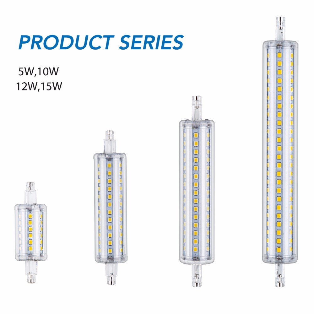 <font><b>R7S</b></font> <font><b>LED</b></font> lamp 220V Tube Light 36 72 90 144leds 78mm Bulb 2835 Horizontal plug Lights <font><b>R7S</b></font> <font><b>led</b></font> <font><b>118mm</b></font> Corn Bulb 135mm 189mm <font><b>Bombilla</b></font> image