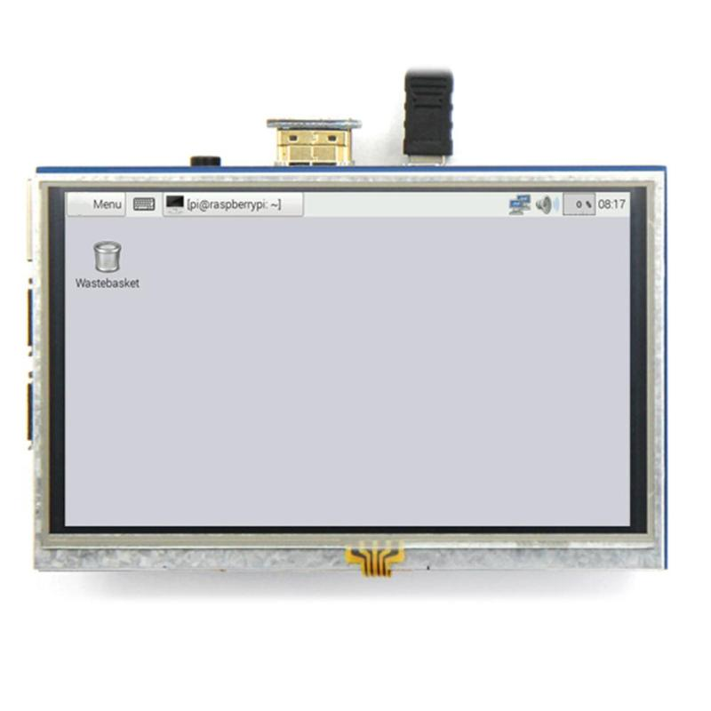 ALLOYSEED LCD Display 5 Inch 800x480 Touch Screen Monitor HDMI Module with Touch Function for Raspberry Pi 1 2 3 5 2 amoled lcd for zte axon mini b2016 display with touch screen digiziter
