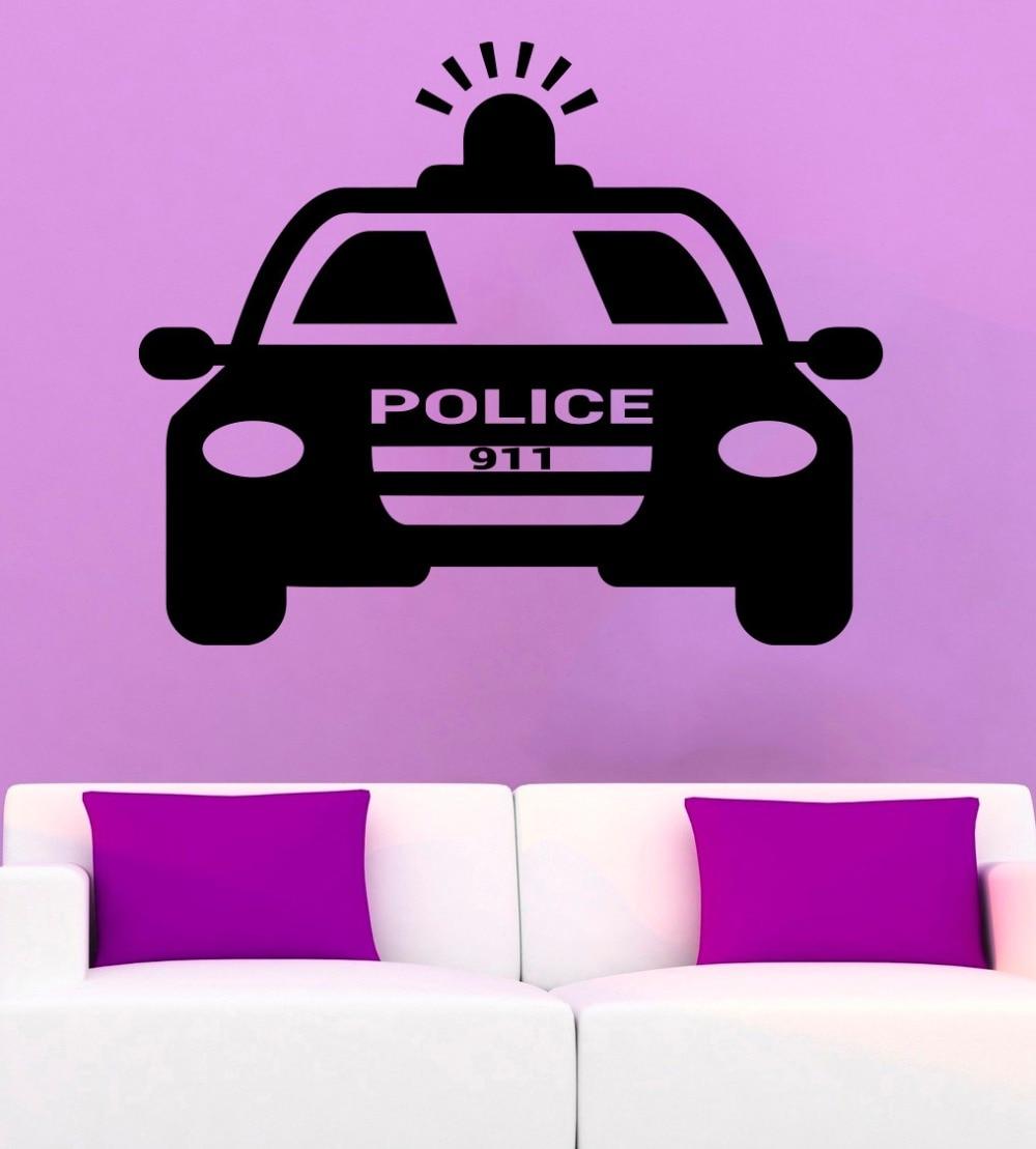 ᗗPolice Car Wall Decal ᐂ Policeman Policeman Cool Vinyl ...  Police