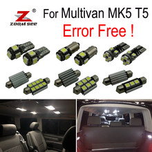 18pcs LED Interior reading dome map Lights bulb Kit for Volkswagen Accessories for Multivan MK5 T5 (2003-2015)(China)