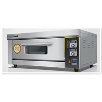 220V/3KW Commercial Professional Electric Oven Electric Pizza Bread Baker Machine 1 Layer 1 Tray Digital Temperature Control