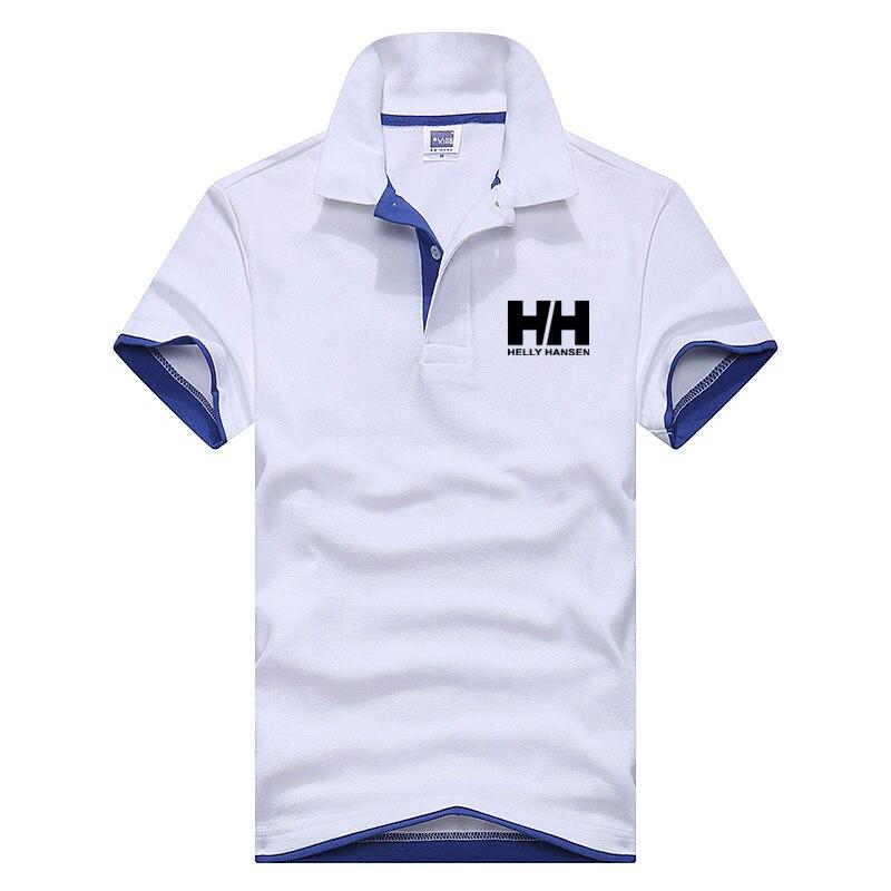 Sommer Herren   Polo   Shirts Business Mnnlichen Helly Hansen Brief Gedruckt Revers Shirts Baumwolle Mode Qualitt Kurzen rmeln
