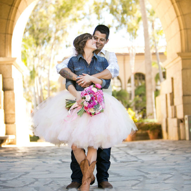 Womens-Tulle-Skirt-Blush-Pink-Tutu-Rustic-Cowgirl-Wedding-Tutu-Perfect-Lolita-Extra-Puff-Ball-Gown.jpg_640x640 Cowgirl Wedding