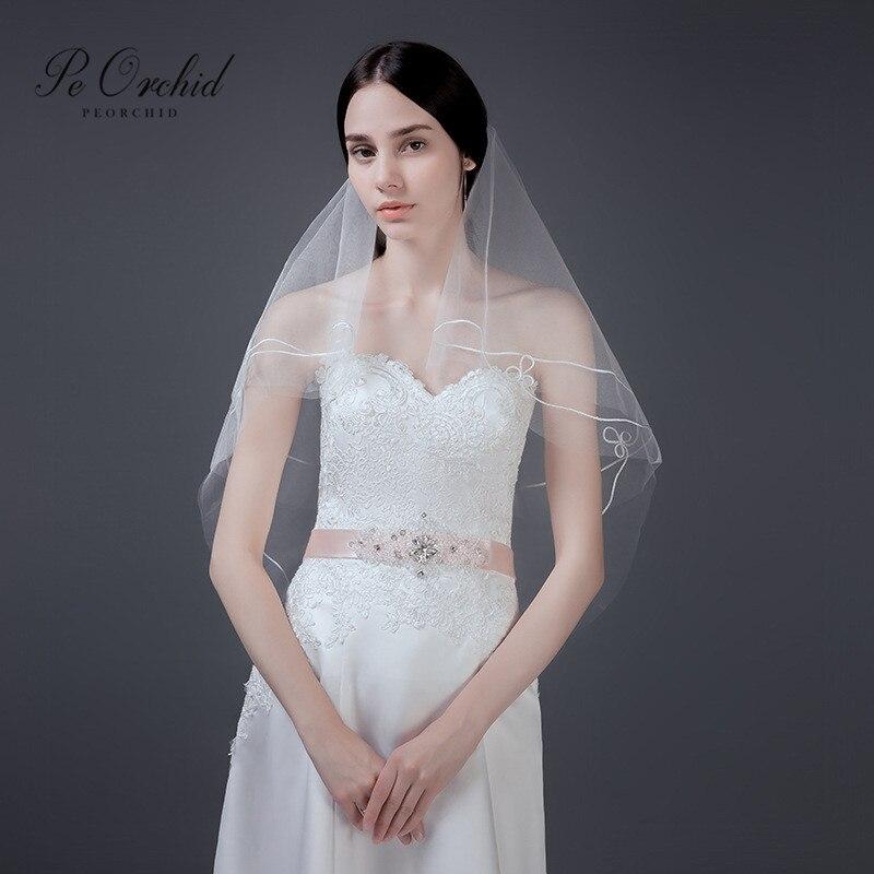 Wedding Hairstyles No Veil: PEORCHID Cheap Wedding Veil Short Bridal Hair Accessories