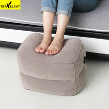 Newest Kids Sleeping Footrest Pillow Large Valves Design Inflatable Travel Pillow Foot Pad Foot Rest Pillow For Airplanes 2Pcs цена