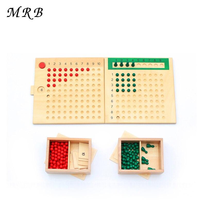 Enfants jouet Montessori Multiplication perle conseil et Division perle conseil pour l'éducation préscolaire jouets de formation