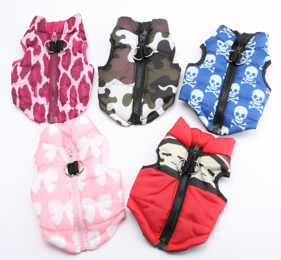 10pcs dogs cats cool fashion jackets doggy autumn winter coats apparel puppy sweaters clothes pet dog cat clothing products XS-L
