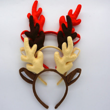 Elk Reindeer Antlers Headband Deer Horn Hair Band Kids Adults Accessories Birthday Party Favor Navidad Halloween Christmas