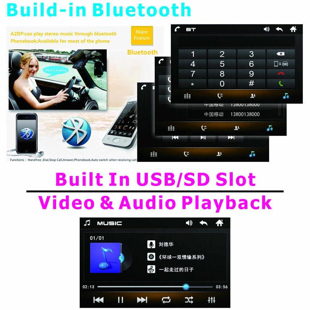 """2 喧騒車のマルチメディア Mp5 プレーヤー Bluetooth ラジオオーディオステレオ 7 """"タッチハンズフリー/USB/ リモート制御リアカメラをサポート"""
