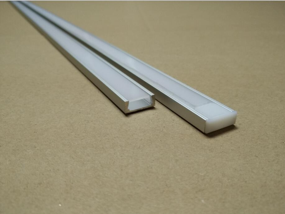 Free shipping factory price  aluminum profile for led strip,milky/transparent cover for 12mm pcb with fittings  1m/pcs