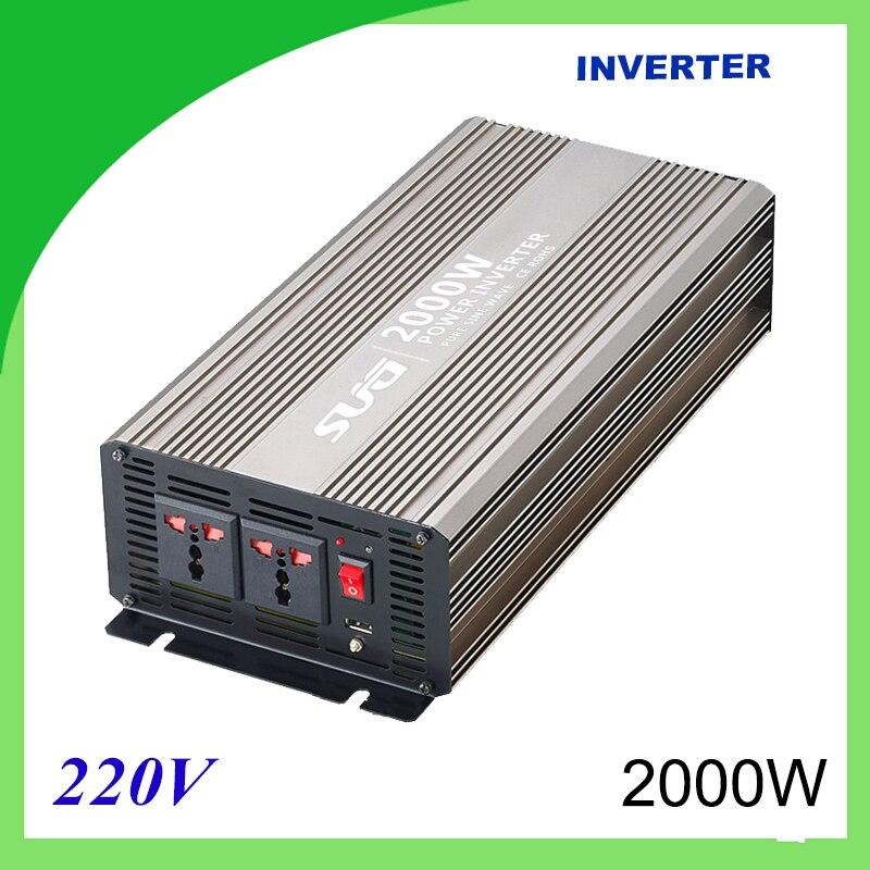 2000W Pure Sine Wave Solar Power Inverter DC 12V 24V To AC 110V 220V Digital