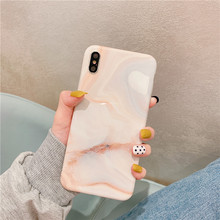 Luxury Glossy Marble phone case For iphone XS MAX XR X 6 6s 7 8plus Fashion TPU Soft Case Back Cover