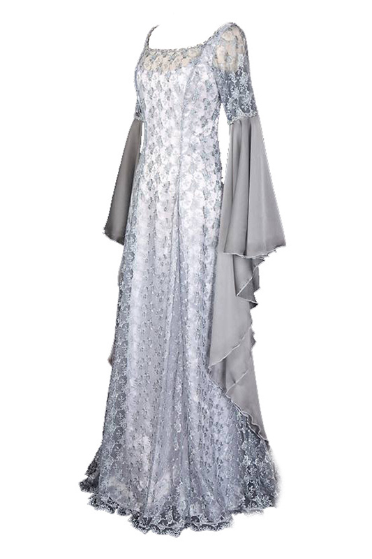 Adult Women Medieval Costume Long Dress Victorian Wedding Dress