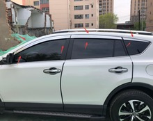 ABS Chrome plastic Window Visor Vent Shades Sun Rain Guard car accessories for Toyota RAV4 RAV-4 2013-2016-2018 2019 styling
